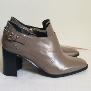Jeffrey Campbell Gray Leather Ankle Boot
